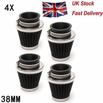 4PCS 38MM-40MM 39MM Motorcycle Power Scooter Cone race Air Filter Replacement