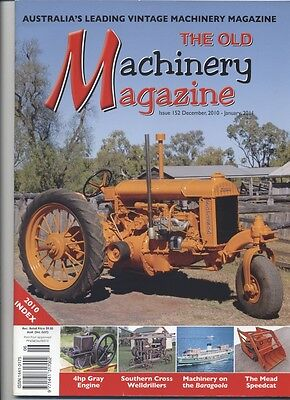 The Old Machinery Magazine TOMM  issue 152 December 2010 - January 2011