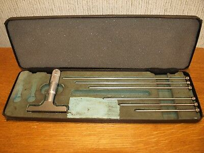 "Cased Moore & Wright 0 - 6"" Depth Micrometer - made in England!!!!"