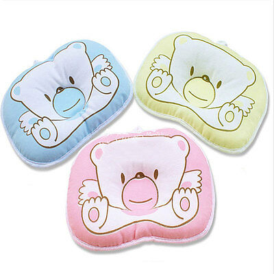 Baby Infant Newborn Safe Pillow Support Cushion Anti-Flat Head Cotton Pram Crib