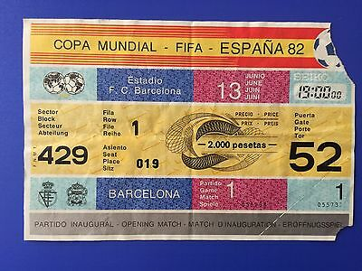 Entrada Ticket Openning Match World Cup Spain 1982