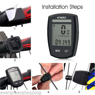 Wireless Waterproof Solar Panel Bicycle Computer LCD Cycle Speedometer Odometer