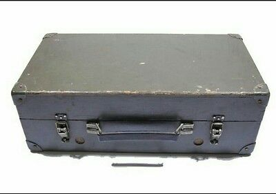 Solid Wooden Military Box With Steel Enhanced Edges Army Geiger Counter Case