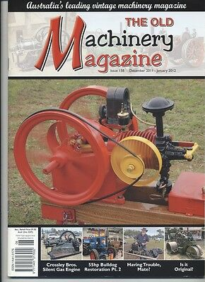 The Old Machinery Magazine TOMM  issue 158 December 2011- January 2012