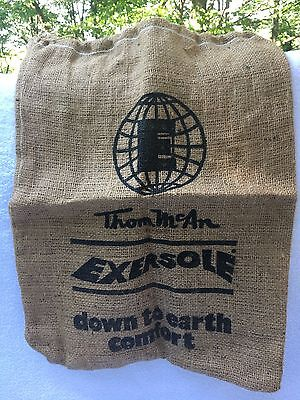 1970s Thom McAn Exersole Shoes Burlap Bag Drawstring Promotional
