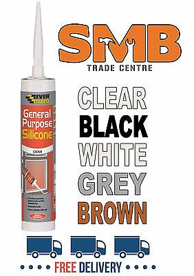 General Purpose Silicone Sealant Everbuild C3 310Ml Bath Kitchen Sink & Shower