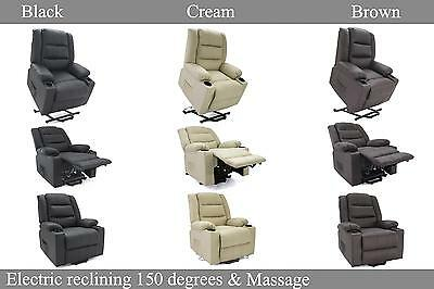 Electric Reclining Lift Heating Massage Disable Chair Sofa Senior Elder 1 Motor