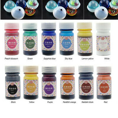12 Bottles 12 Color Epoxy UV Resin Coloring Dye Colorant Resin Pigment Art Craft