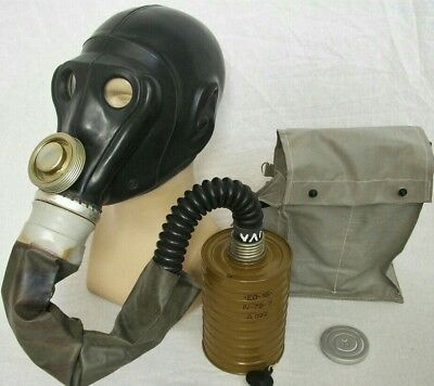 Prw-U Rare  Prw Collectable Soviet Gas Mask  Full Set With Anti-Fire Sleeve