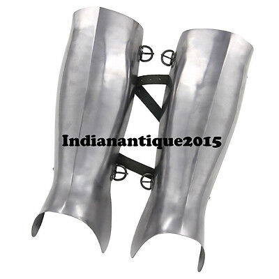 Medieval Armour Ancient Greek Hoplite Greaves  16g Functional Leg Guard