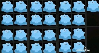 Pokemon 25 pack shiny Ditto level 100 all natures 6IVs Sun/Moon & Ultra DS trade