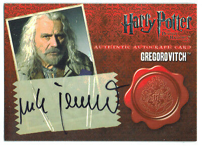 Harry Potter Deathly Hallows Part 1 Autograph Card Rade Serbedzija Gregorovitch