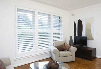 New Timber Plantation Shutters - White - Wood