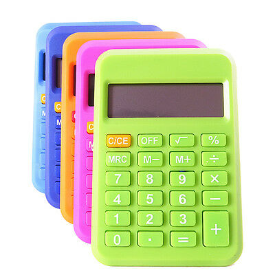 Student Mini Electronic Calculator Candy Color Calculating Office Supplies GD