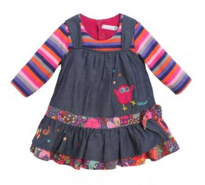New With Tags Catimini Baby Girl's Spirit Colour Indigo Denim Dress @3M@Last One