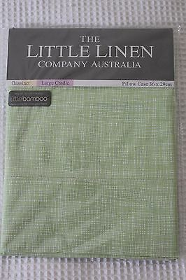 NEW The Little Linen Company cotton/bamboo Bassinet or Cradle Pillow case