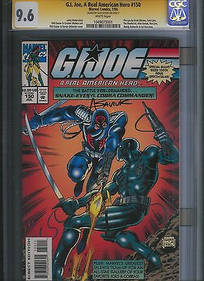 G.I. Joe, A Real American Hero # 150  CGC 9.6 Signed! White Pages. UnRestored.