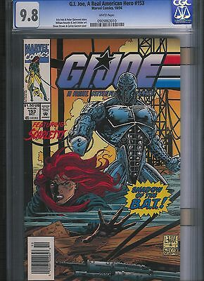 G.I. Joe, A Real American Hero # 153  CGC 9.8  White Pages. UnRestored.