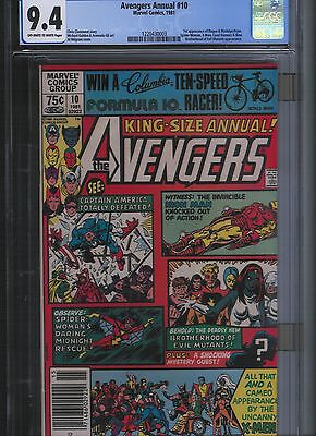 Avengers Annual # 10 CGC 9.4  Off White to White Pages. UnRestored.