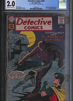 Detective Comics # 298 CGC 2.0  Off White to White Pages. UnRestored.