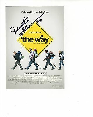 MARTIN SHEEN HAND SIGNED 5x7 PHOTO+COA      PROMOTIONAL ITEM FOR MOVIE THE WAY