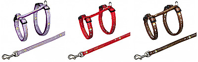 Trixie Cat Pet Harness And Lead Set Fully Adjustable One Size Metal Clip Reduced