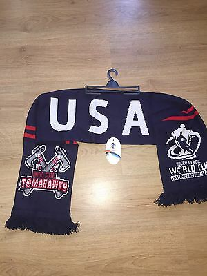 Official RUGBY World Cup 2013 USA Rugby League Scarf UNUSED