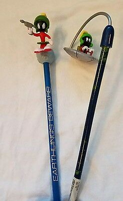 *Two* Marvin the Martian Pencils *NEVER USED* *NEVER SHARPENED*
