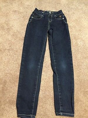 Girls Justice Dark Wash Jeggings Jeans Size 10 Slim