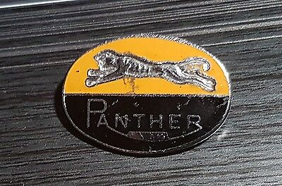 Panther Brosche emailliert Automobile England 28x20mm Retro