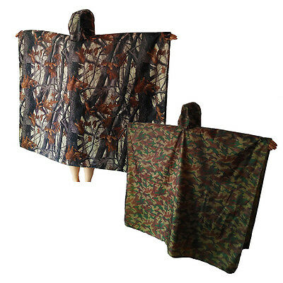 3 in 1 Multifunction Outdoor Rain Poncho Backpack Rain Cover Hiking Kit Tent Mat