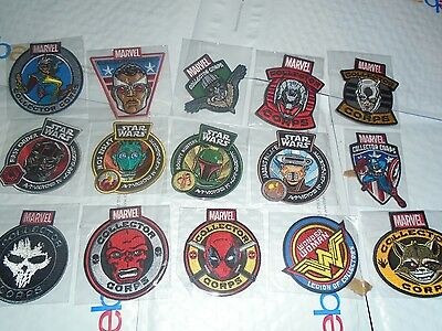 Marvel Funko Iron on Patches Smugglers Bounty LOC MCC Star Wars 15 Total