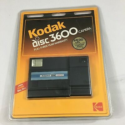 Vintage Kodak Disc 3600 Camera New In Sealed Package