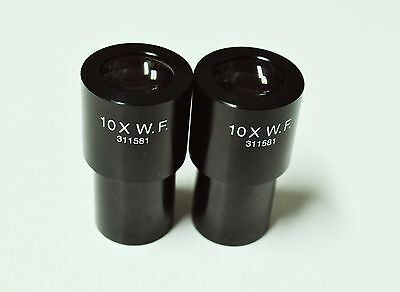 Pair of Leica 10X W.F. Wide Field 311581 Microscope Eyepieces