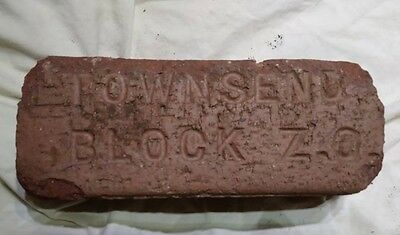 Beautiful rare antique street paver Brick located in Michigan City, IN.