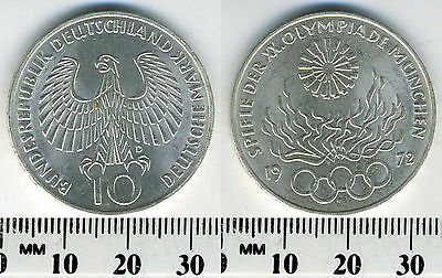 Federal Republic of Germany 1972 D - 10 Mark Silver Coin - Munich Oympics - #3