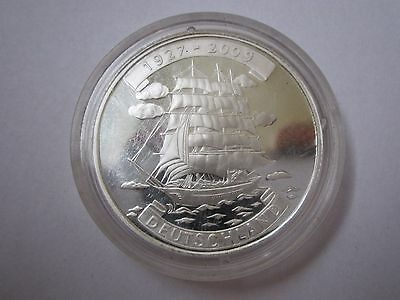 2009 Years Korea 5 Silver Won with ship.