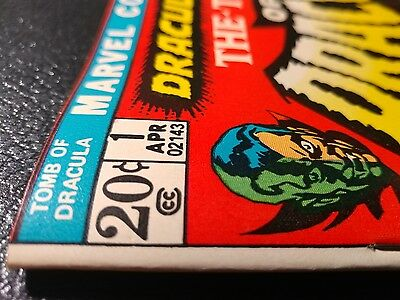 """Tomb Of Dracula #1 Nm-White Pgs """"hilltop Ped. Coll"""" 1972 Beautiful Deep Colors🐲"""
