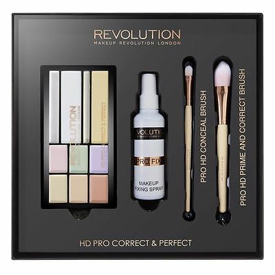 MAKEUP REVOLUTION HD Pro Correct & Perfect Corrector Strobe Palette Fixing Spray