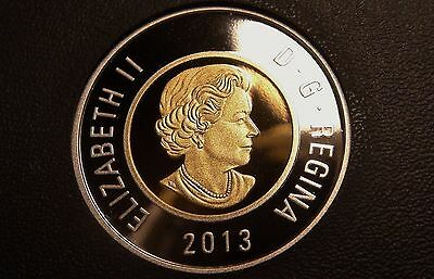 2013 Canada FINE SILVER PROOF TWO DOLLAR Coin – NICE & RARE $2 Piece!