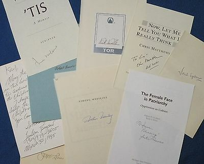 Wholesale autograph lot! Eighteen signed book pages Great signatures first $99 !