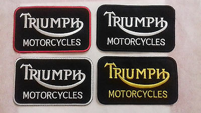 Triumph Twin Piston Embroidered sew oN Iron on Bikers  New Patch Badge N-96