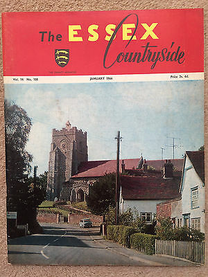 Essex Countryside magazine Jan 1966 - East Hanningfield, Sible Hedingham (cover)
