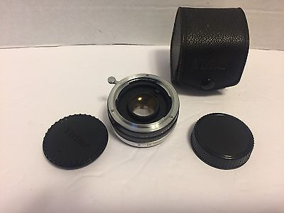Pre-Owned Vivitar Automatic Tele Converter 2X-7 W/ Both Caps And Case-Japan