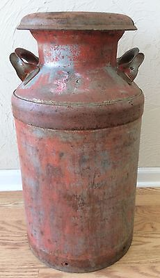 Milk Can Cream Dairy 10 gallons with Lid Vintage