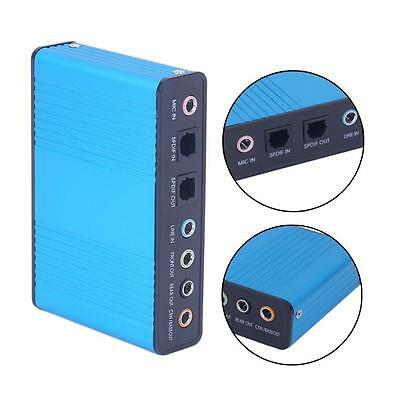 USB 2.0 7.1 Channel 5.1 Optical Audio Sound Card External Adapter for PC E6