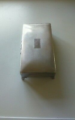 Lovely Silver Plated Cigarette Box (Pinder Bros Ltd)