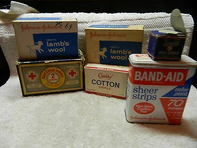 Vintage lot Gauze Bandages-Sanette,Red Cross,Johnson & Johnson,Lambs Wool