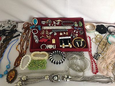 ref Feb 14.4) Estate Fashion Jewellery, Oroton necklace, Italy 925 ring, brooch