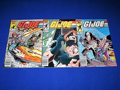 Lot 3 G.I. JOE A Real American Hero Issues 47-49 [Marvel 1986] VF/NM Or Better!